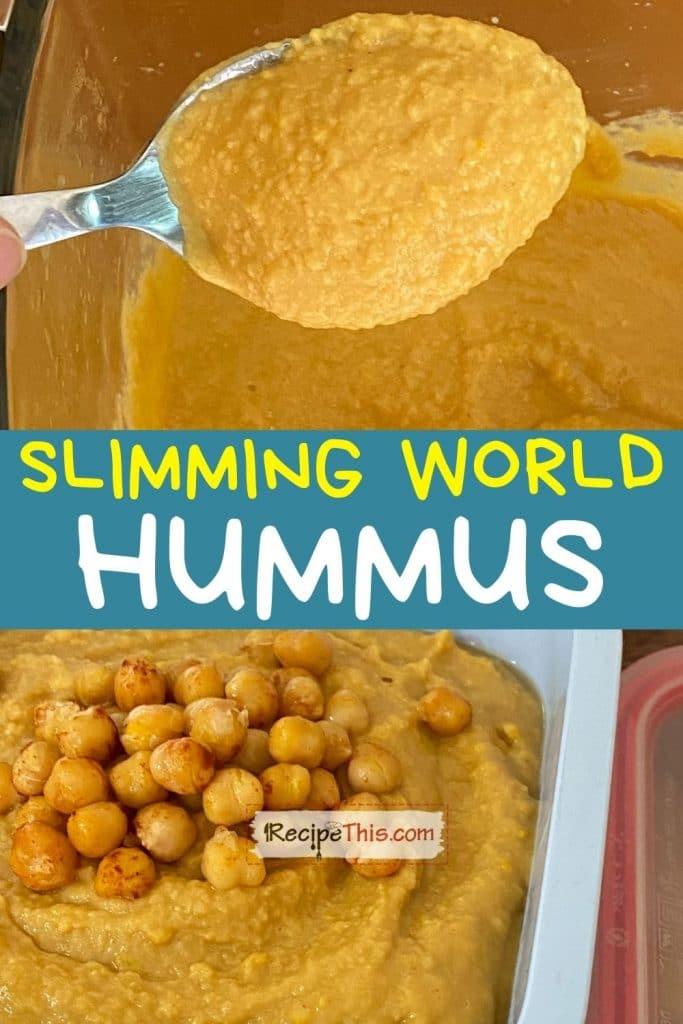 slimming world hummus recipe
