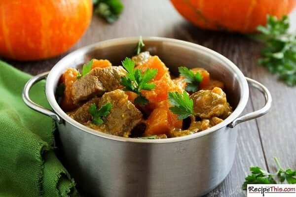 slow cooker beef and pumpkin stew