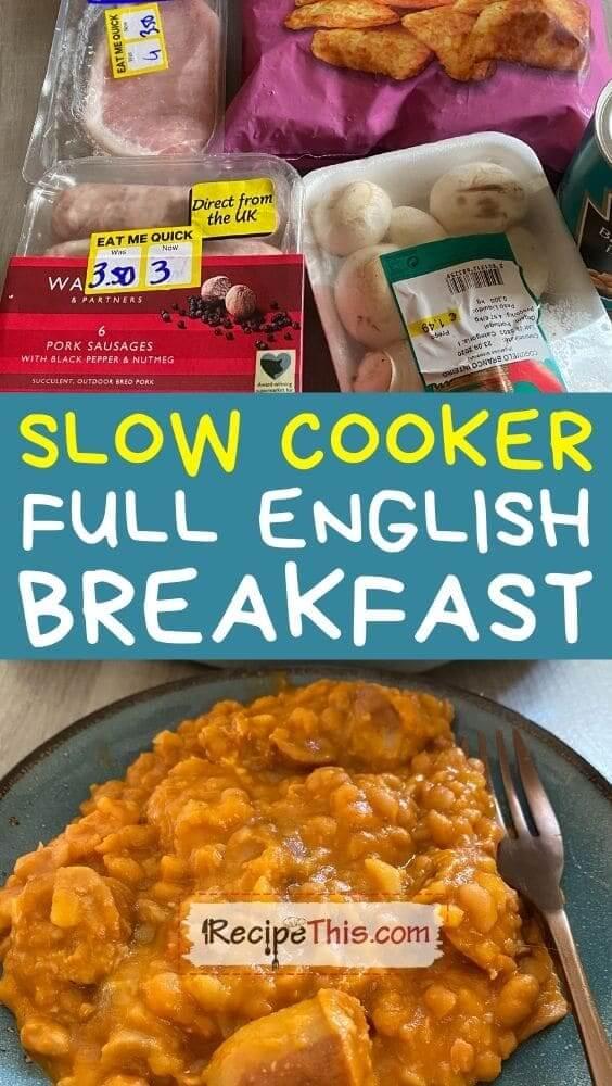 slow cooker full english breakfast recipe