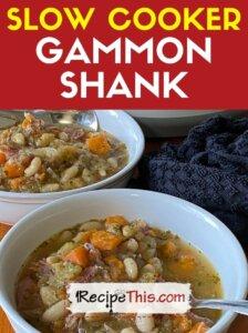 slow cooker gammon shank recipe