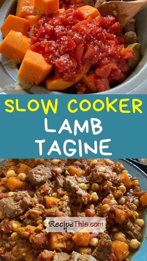 slow cooker lamb tagine recipe