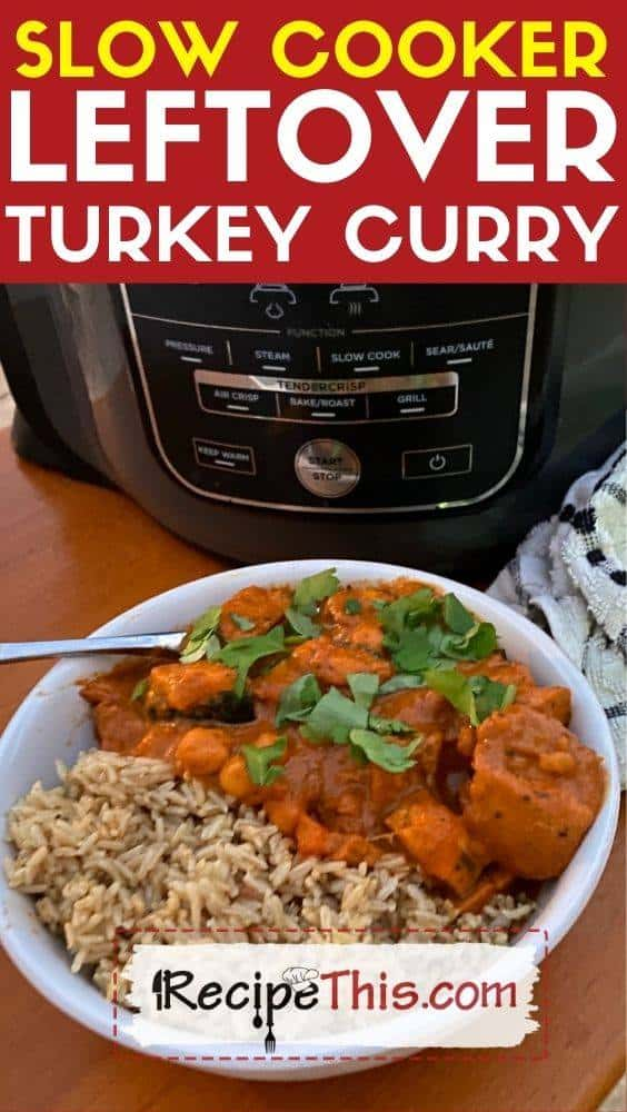 slow cooker leftover turkey curry at recipethis.com