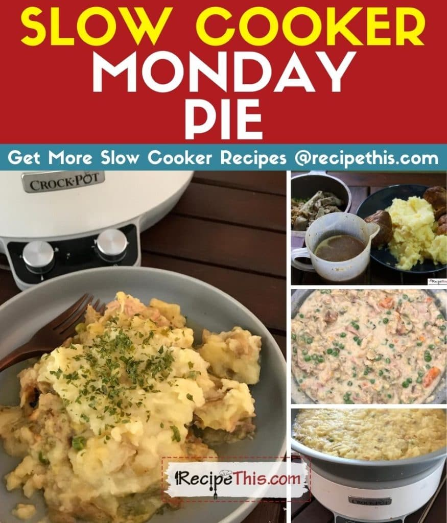 slow cooker monday pie step by step
