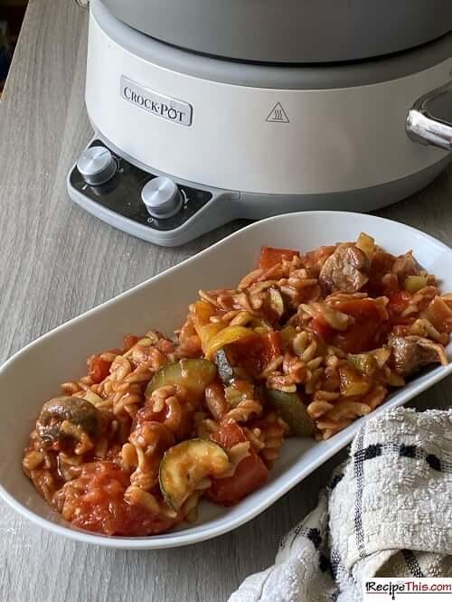 slow cooker slimming world pasta bake
