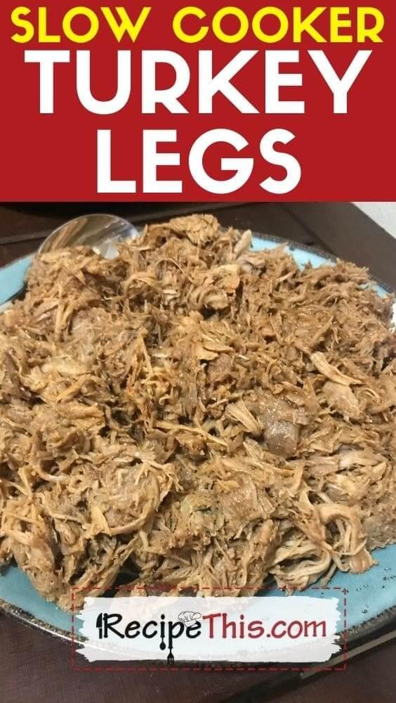 slow cooker turkey legs in the crockpot
