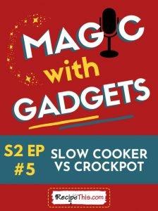 slow cooker vs crockpot