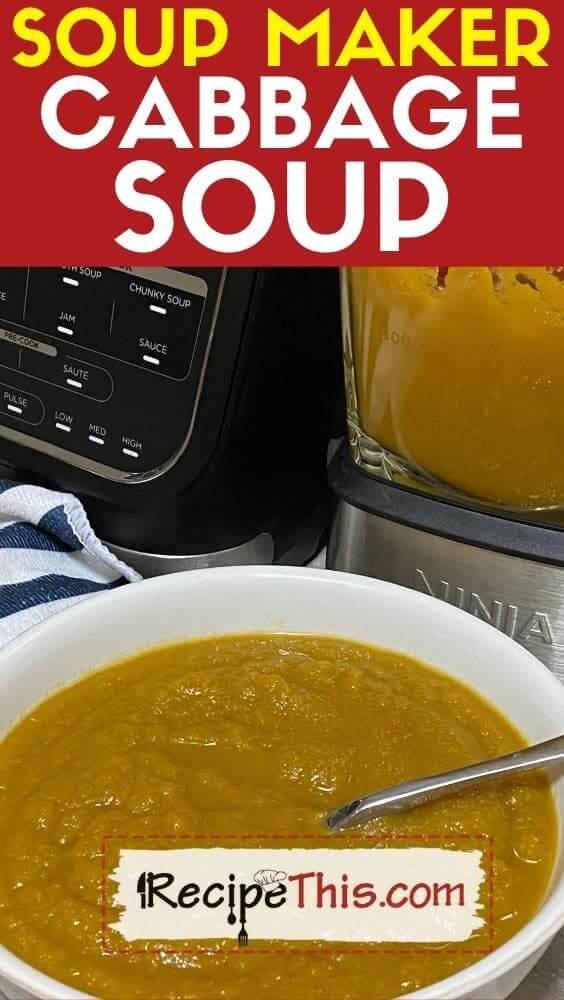 soup maker cabbage soup recipe