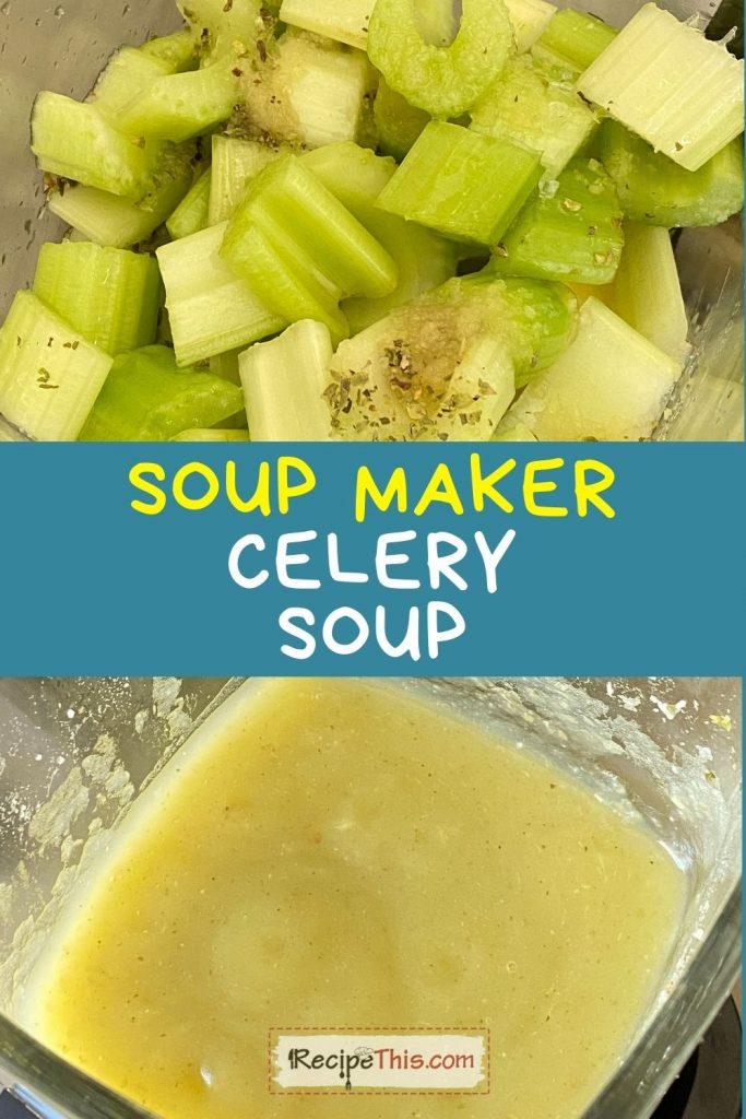 soup maker celery soup recipe