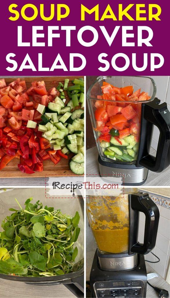 soup maker leftover salad soup step by step