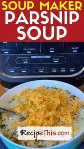 soup maker parsnip soup recipe