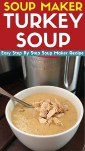 soup maker turkey soup recipe