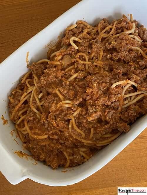 spaghetti bolognese leftovers