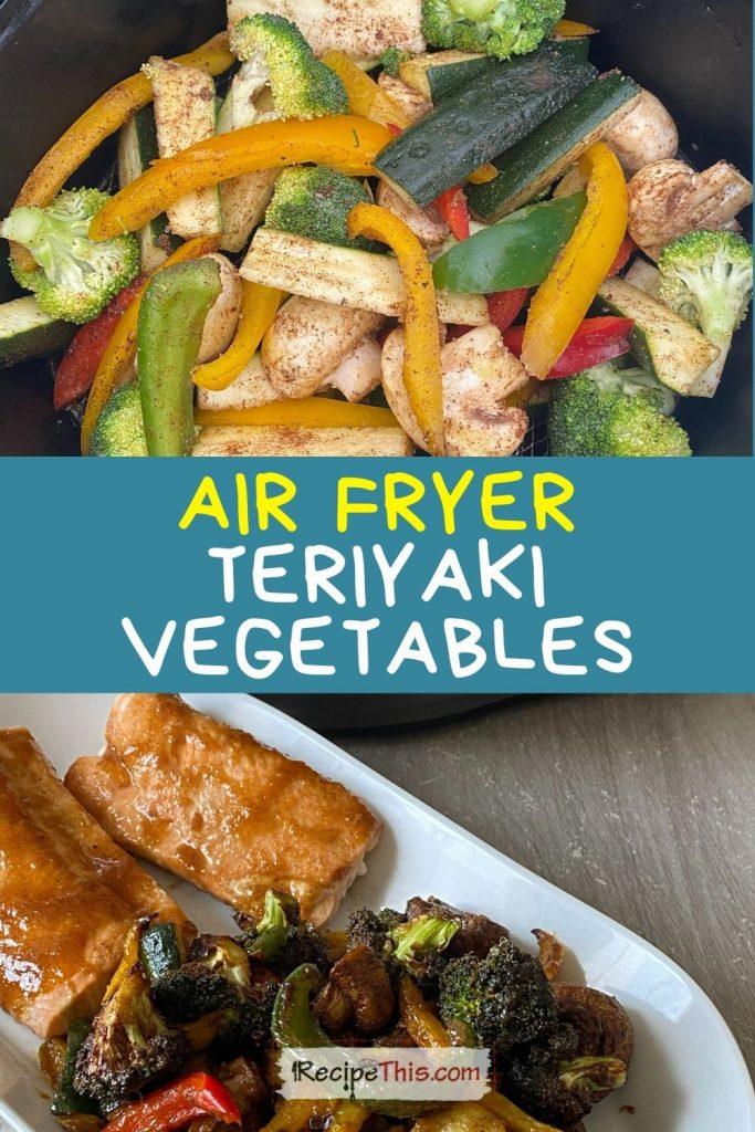 teriyaki vegetables with salmon