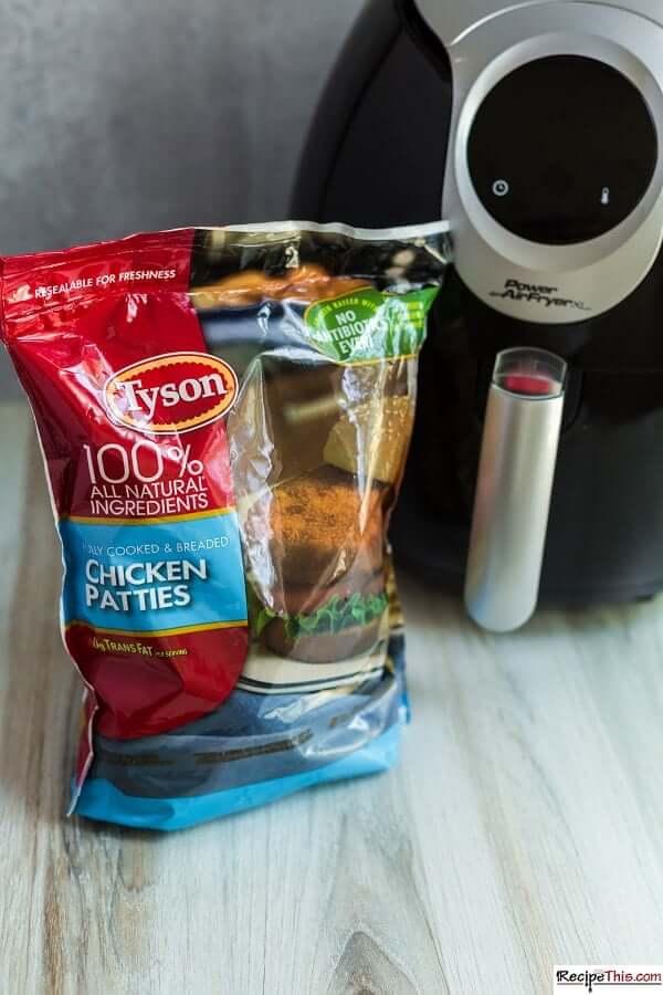 tyson chicken patties ingredients