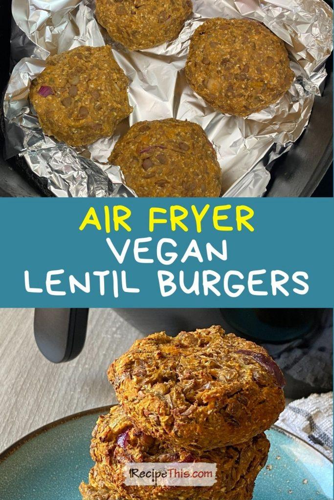 vegan lentil burger recipes