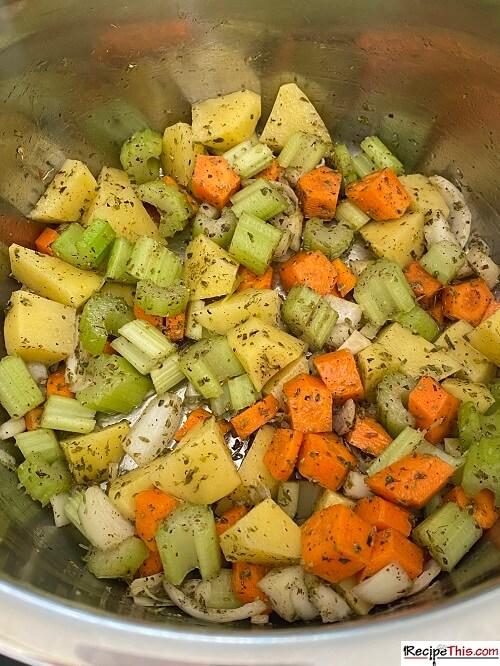 vegetables for turkey soup